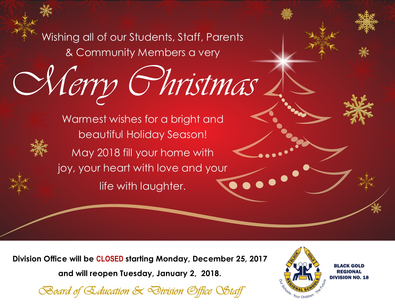 Division office holiday closure greetings black gold regional division office holiday closure greetings m4hsunfo